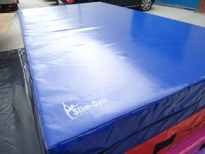 "8FT x 4FT 6"" x 10"" THICK (610gsm) Safety Matress Crash Mat (DARK BLUE)"